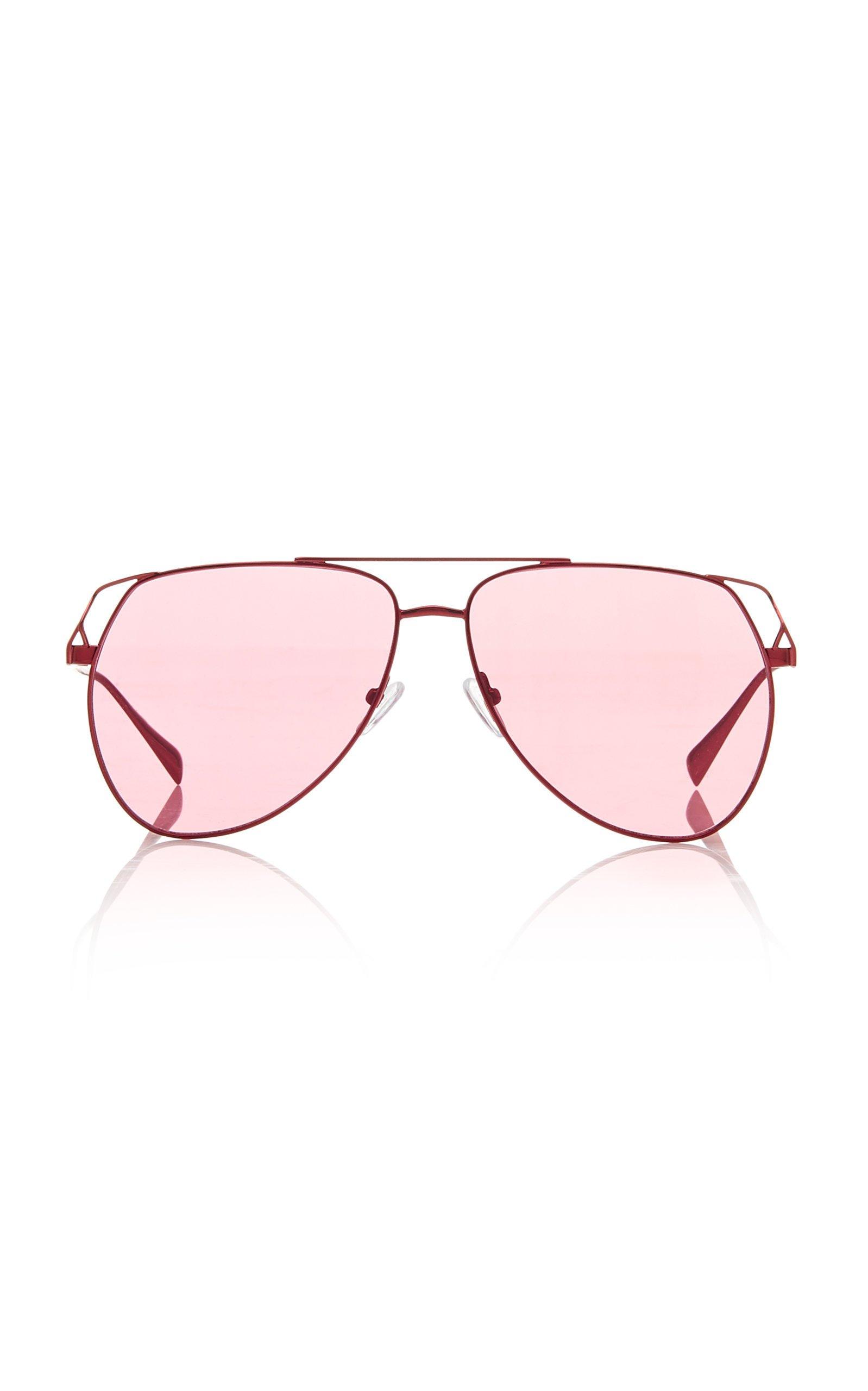 Attico x Linda Farrow Telma Metal Aviator Sunglasses