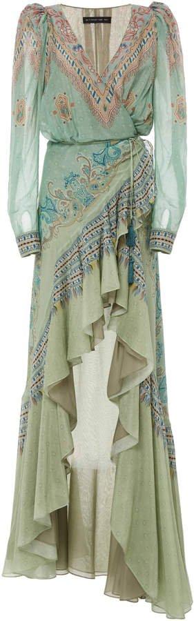 Asymmetrical Georgette Maxi Dress