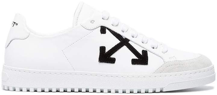 White Leather Carryover Sneakers