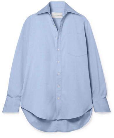 Matthew Adams Dolan - Oversized Cotton-poplin Shirt - Light blue