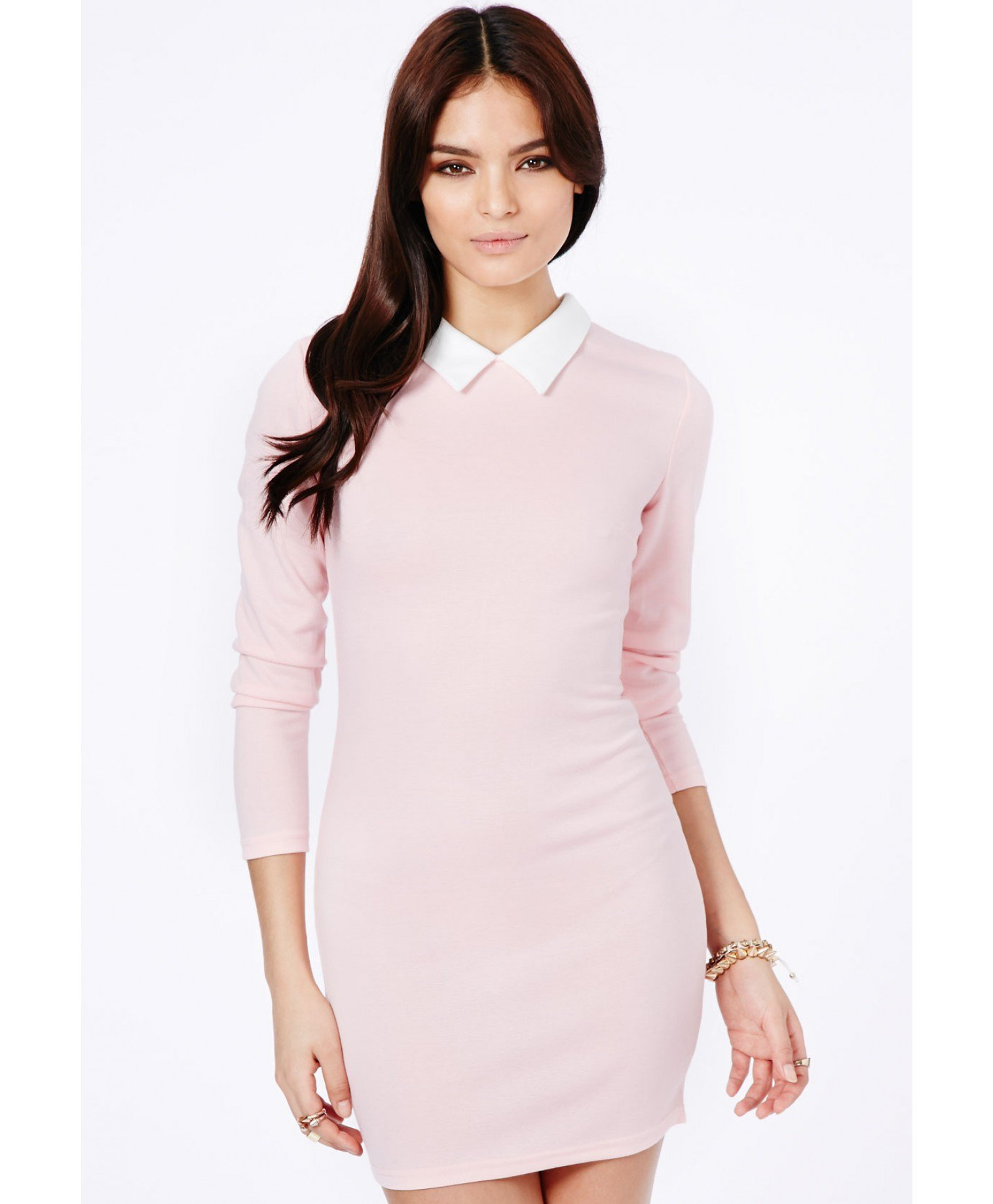 white dress with pink collar - Google Search