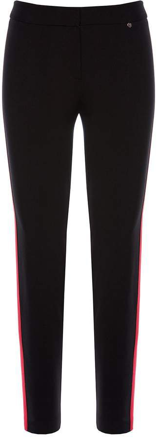 Nissa - Slim Pants With Red Side Stripe