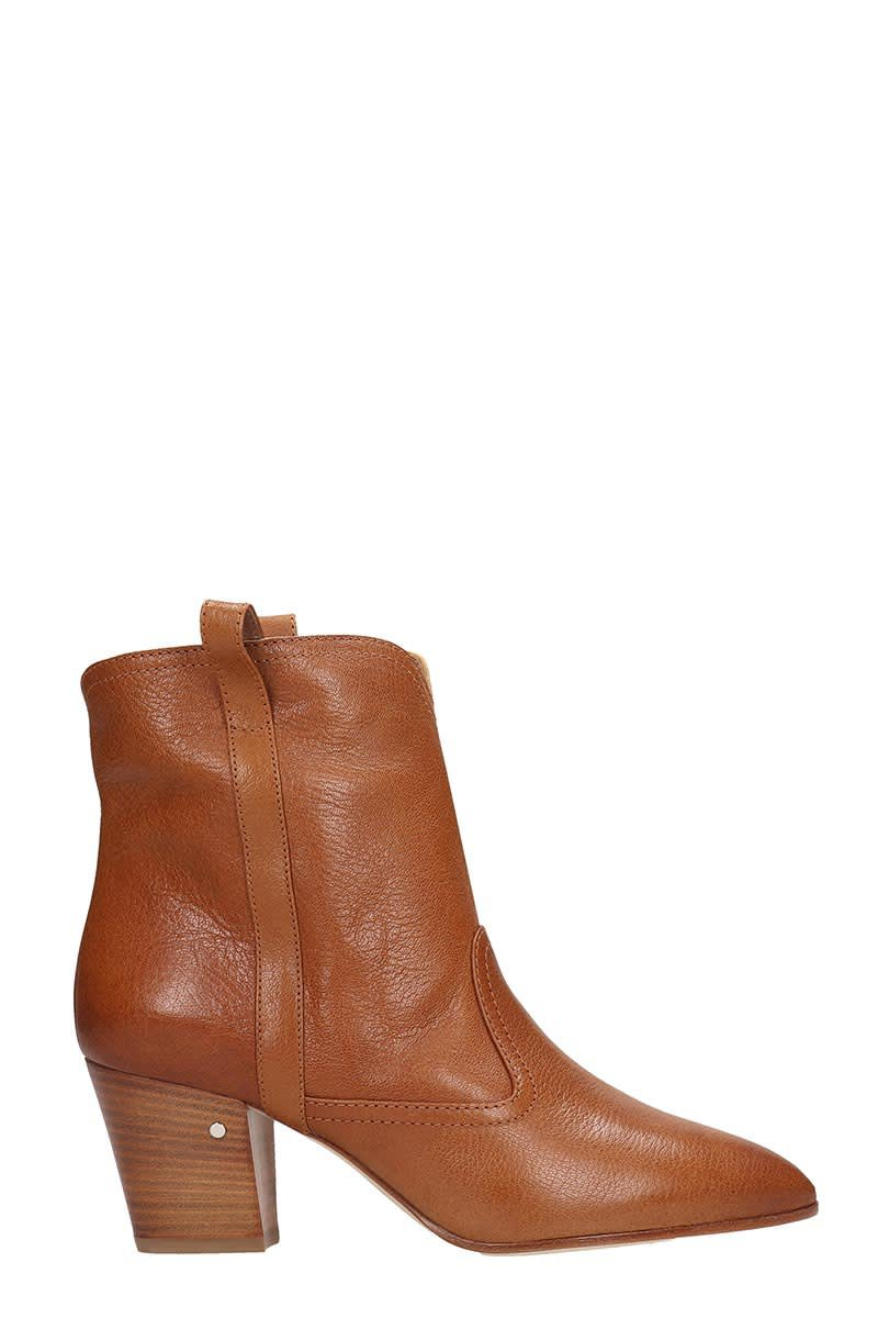Laurence Dacade Sheryll Ankle Boots In Leather Color Leather