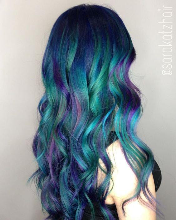 Colorful Galaxy Hair