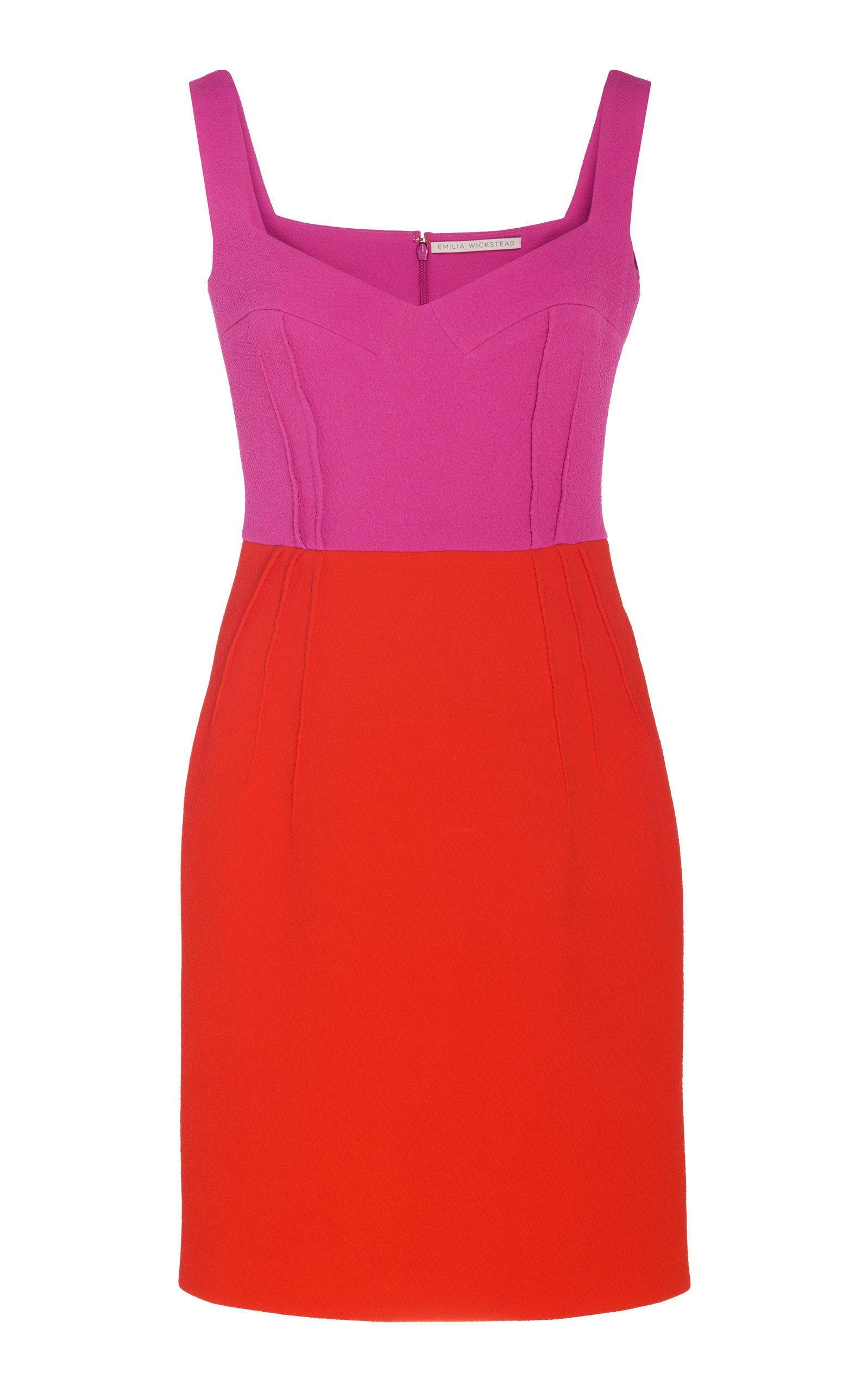 Emilia Wickstead Jude Two-Tone Cadi Mini Dress