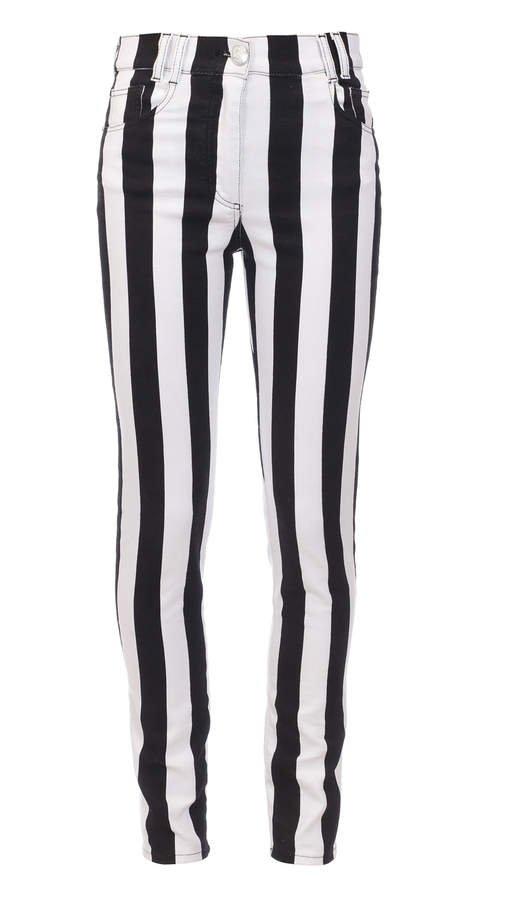 Balmain High-Rise Striped Skinny Jeans Size: 36