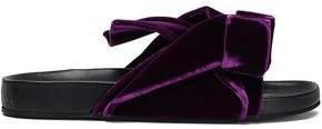 N21 Knotted Velvet Slides