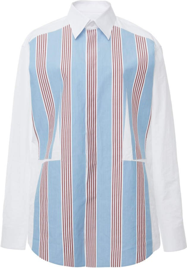 Striped Cotton Long Sleeved Shirt