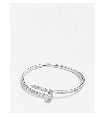 CARTIER - Juste un Clou 18ct white-gold and diamond bracelet | Selfridges.com