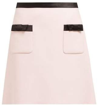 Bow Embellished Mini Skirt - Womens - Light Pink