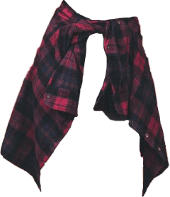 plaid tie around waist