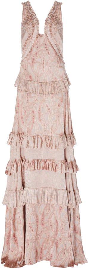 Rafaela Paisley Tiered Gown