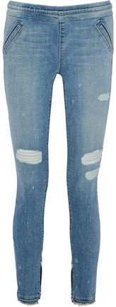 Sonia Distressed Mid-rise Skinny Jeans