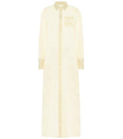 Siena silk organza shirt dress