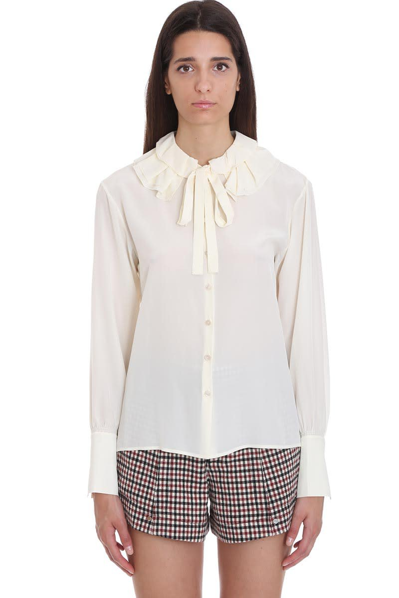 Chloé Blouse In White Silk