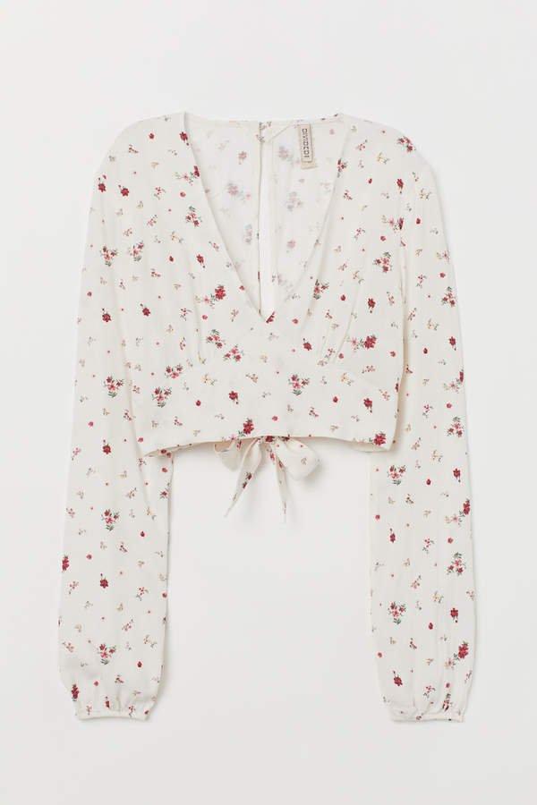 Tie-hem Blouse - White