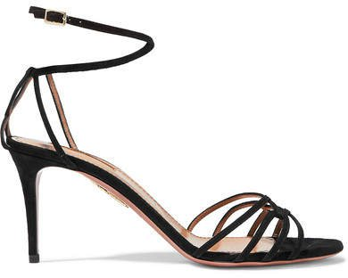 Very First Kiss 75 Suede Sandals - Black