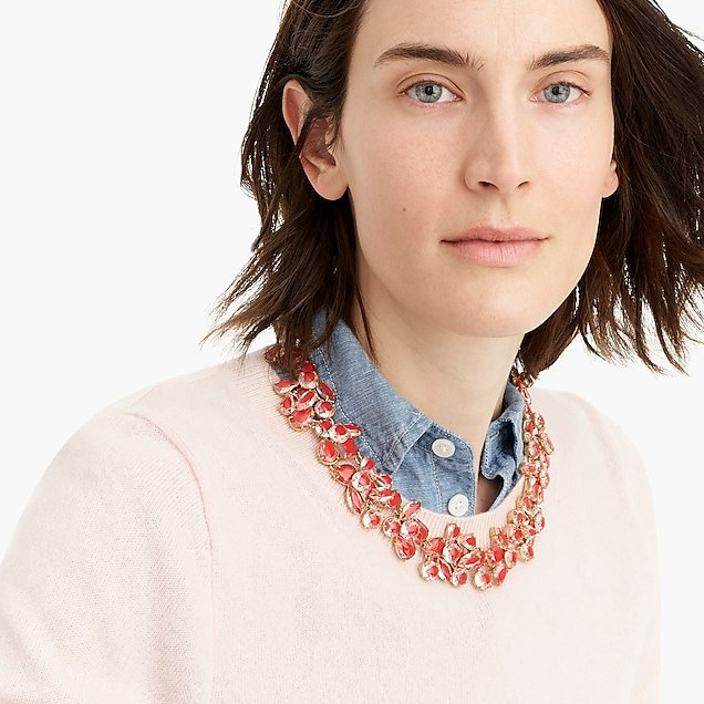 Crystal cluster stone necklace - Women's Jewelry | J.Crew