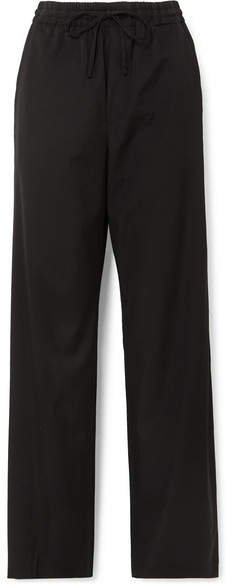 Wool-blend Pants - Black