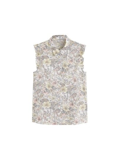 MANGO Sleeveless printed shirt