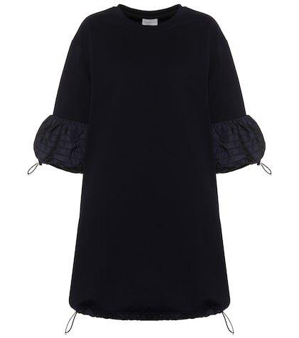 Toggle-trimmed cotton minidress