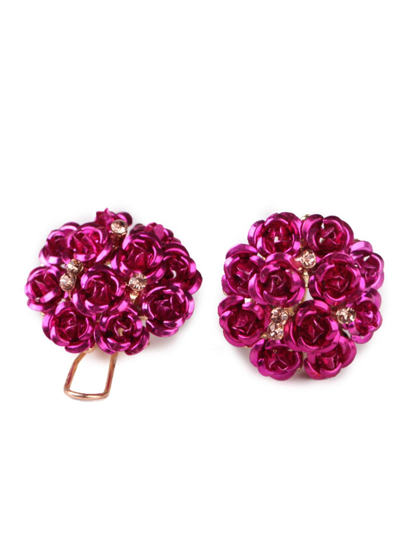Rose Design Stud Earrings