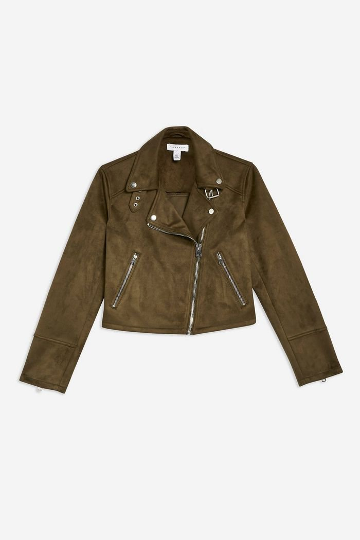 Suedette Biker Jacket | Topshop