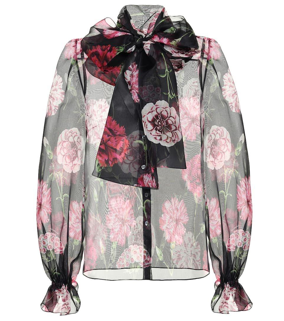 Dolce & Gabbana Floral silk organza blouse