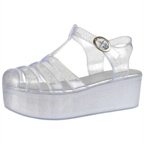 Clear Platform Jelly Shoes