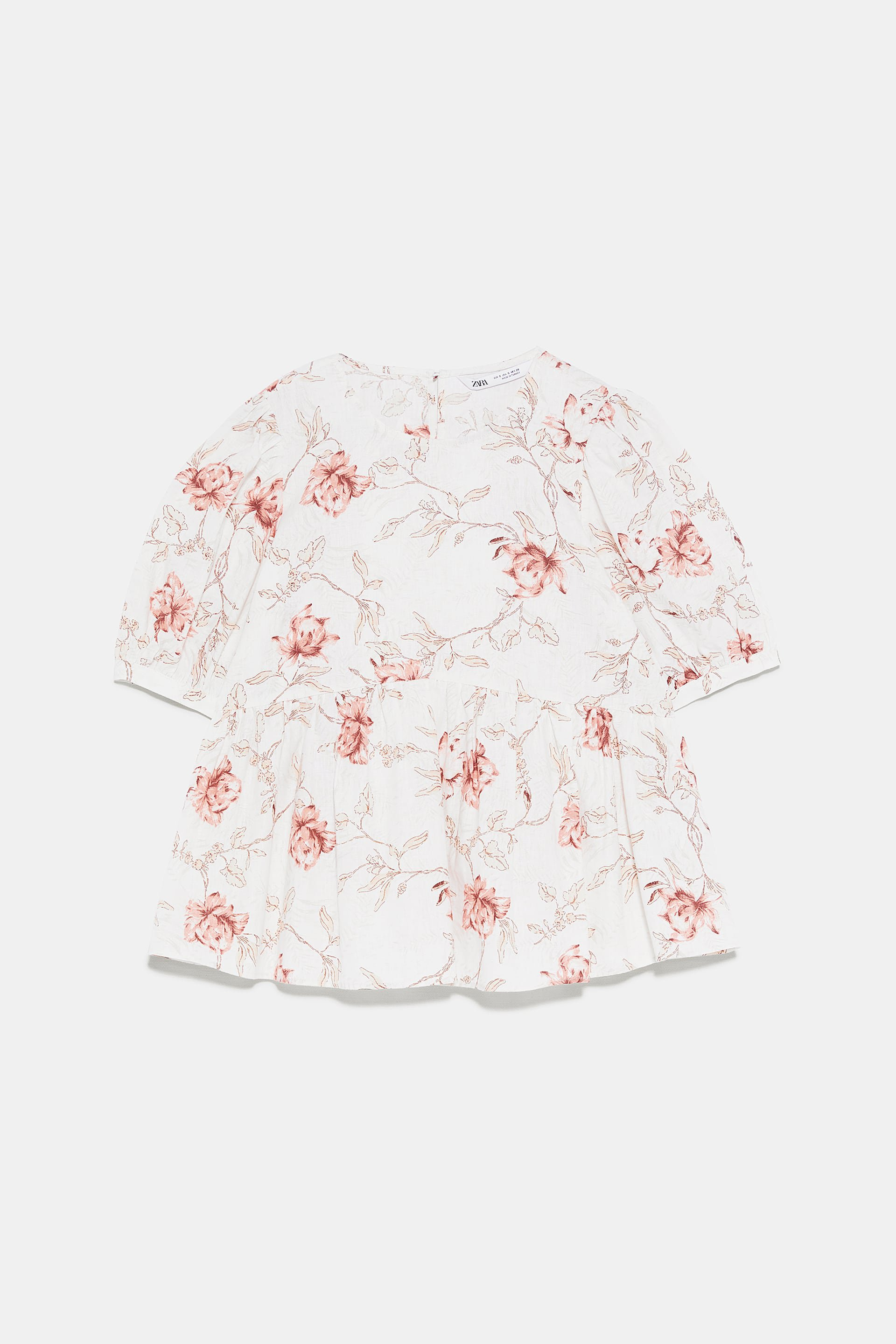 FLORAL PRINTED TOP - View All-SHIRTS | BLOUSES-WOMAN | ZARA Canada