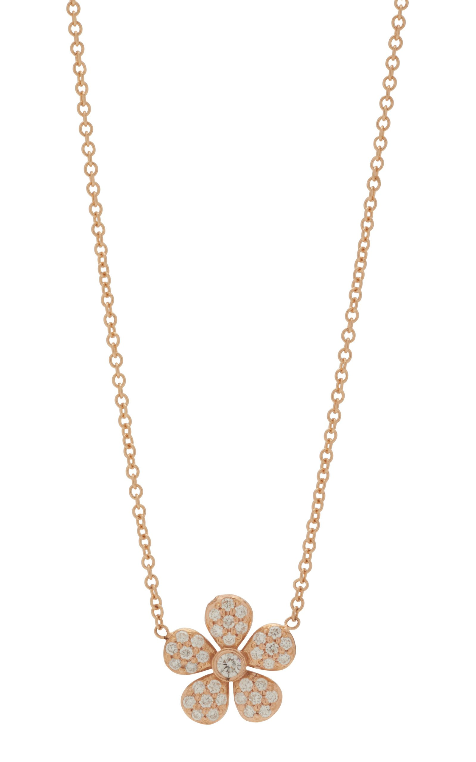 Ivy 18K Rose Gold Pendant Necklace by Colette Jewelry | Moda Operandi