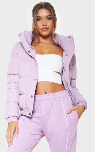 Lilac Puffer Jacket | Coats & Jackets | PrettyLittleThing
