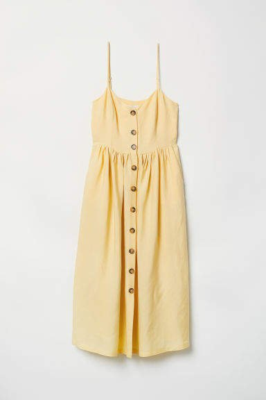 Dress with Buttons - Yellow