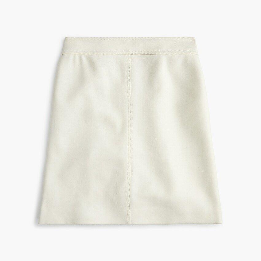 Princess Mini Skirt In Double-serge Wool : | J.Crew
