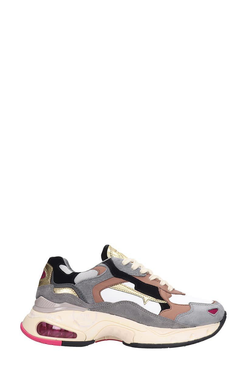 Premiata Sharky Sneakers In Beige Leather