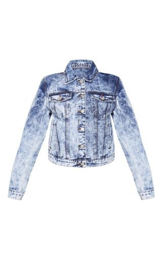 Blue Acid Wash Oversized Denim Jacket | Denim | PrettyLittleThing USA