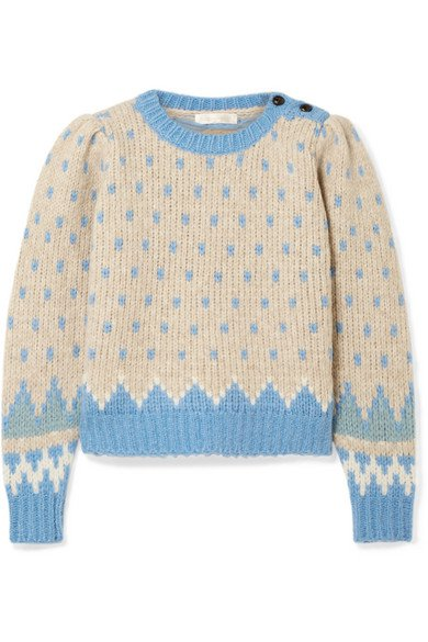 LoveShackFancy | Rosie Fair Isle alpaca-blend sweater | NET-A-PORTER.COM