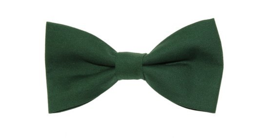 Green Clip-On Cotton Bow Tie Choice of Men's or | Etsy