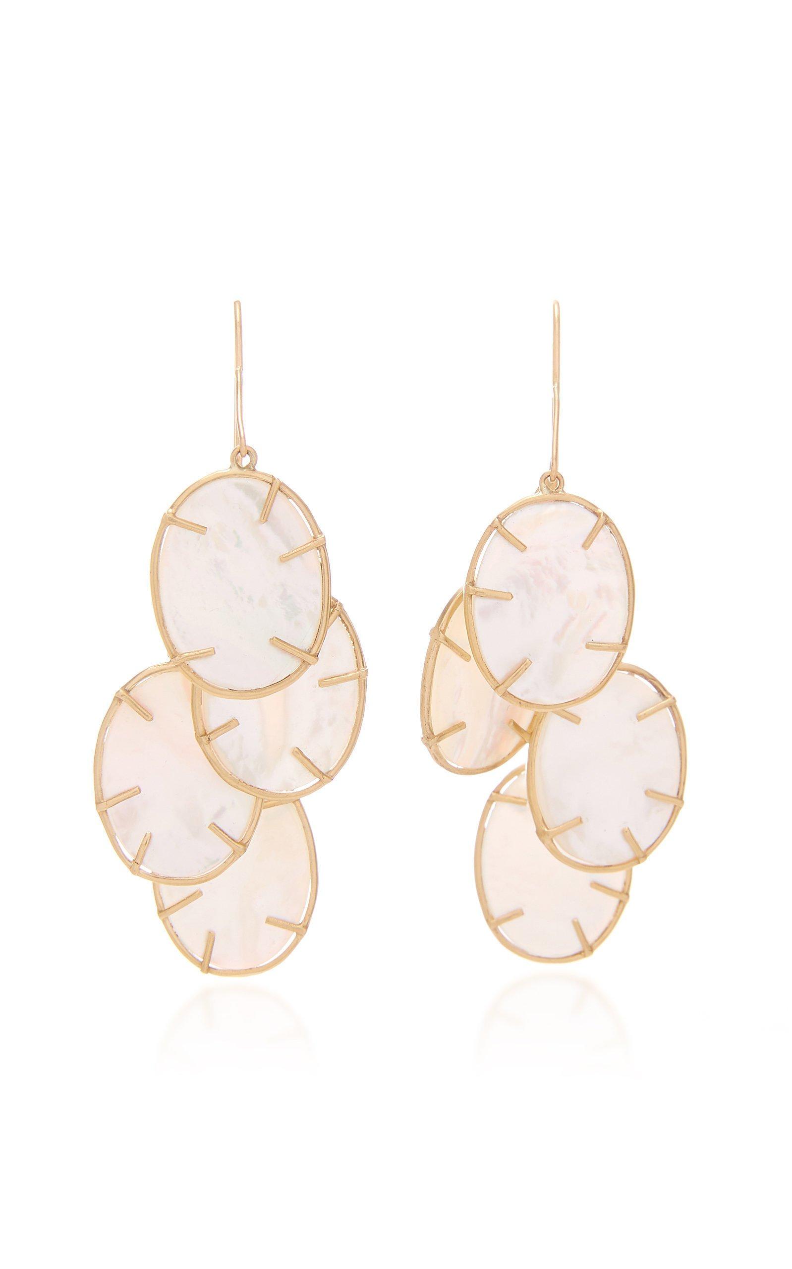 Annette Ferdinandsen Silver Dollar cluster earring