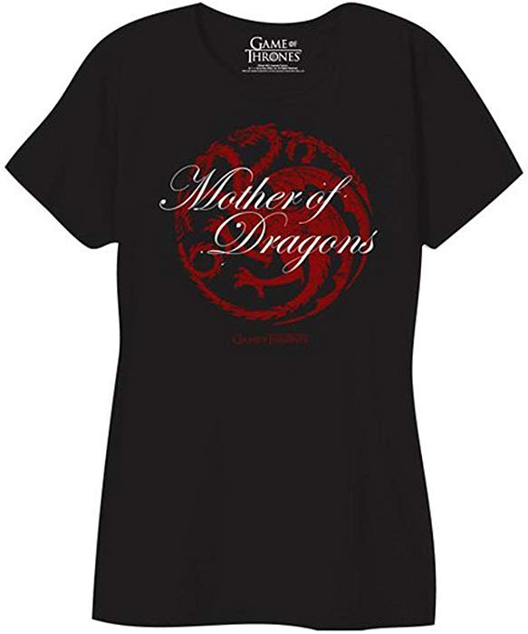 Amazon.com: Game of Thrones Mother of Dragons Juniors T-shirt - Black (X-Large): Clothing