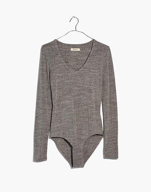 V-Neck Bodysuit grey