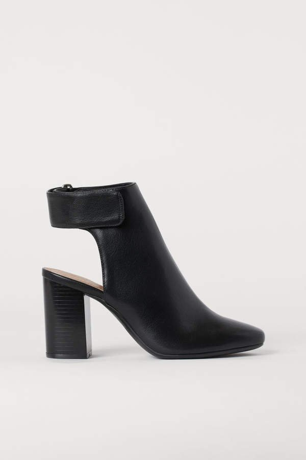 Open-heeled Boots - Black