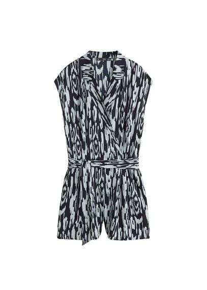 MANGO Bow wrap jumpsuit