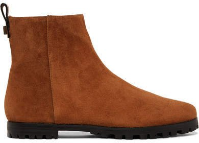 Riley Suede Ankle Boots - Tan
