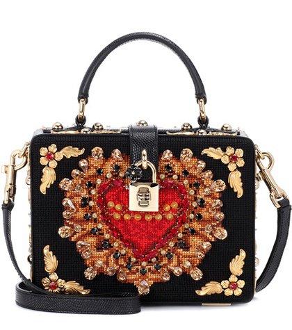 Dolce Box embellished shoulder bag