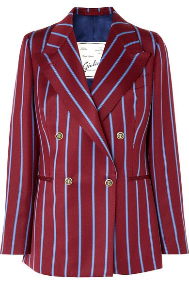 Giuliva Heritage Collection | Stella double-breasted striped wool blazer | NET-A-PORTER.COM