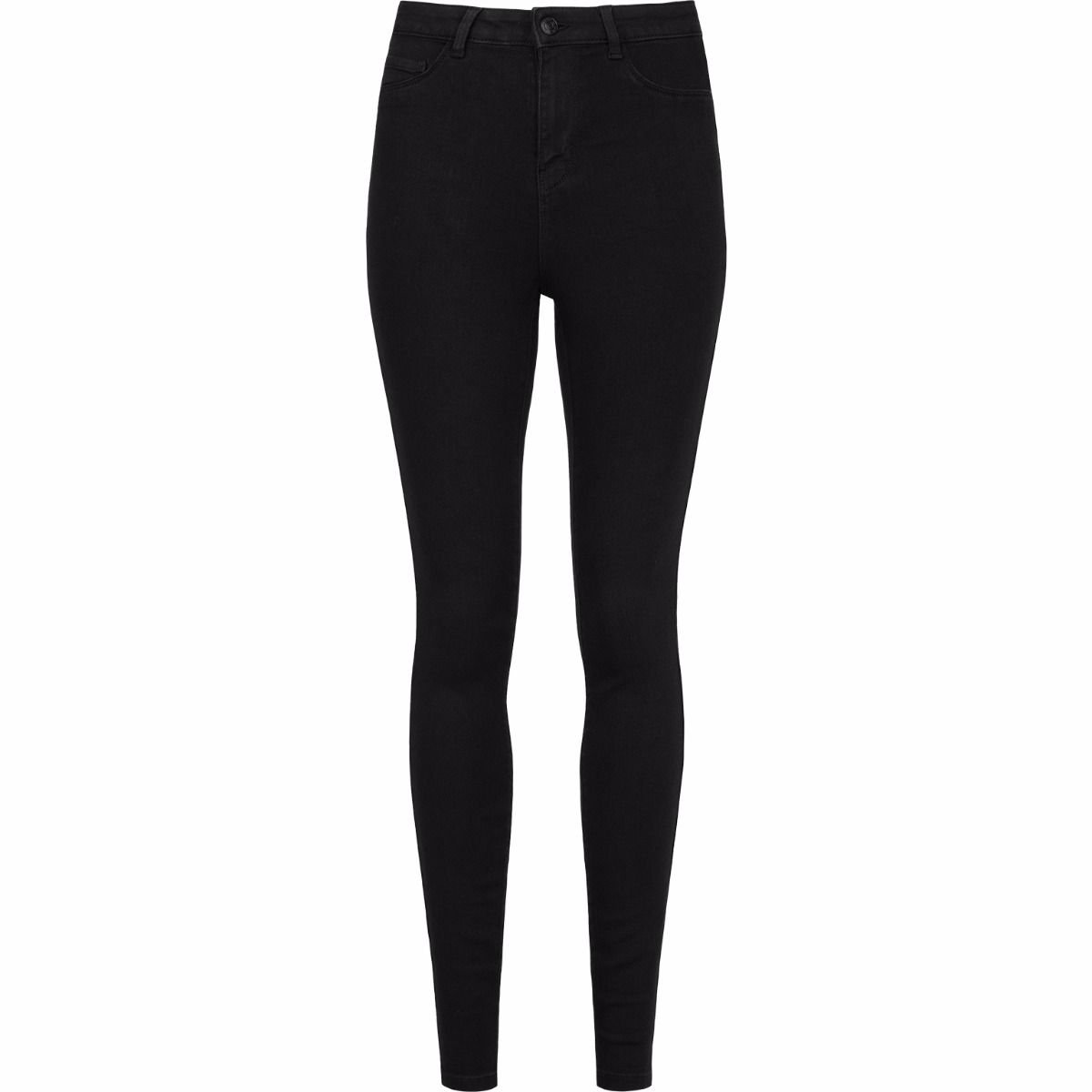 Skinny High Waist Jeans Black