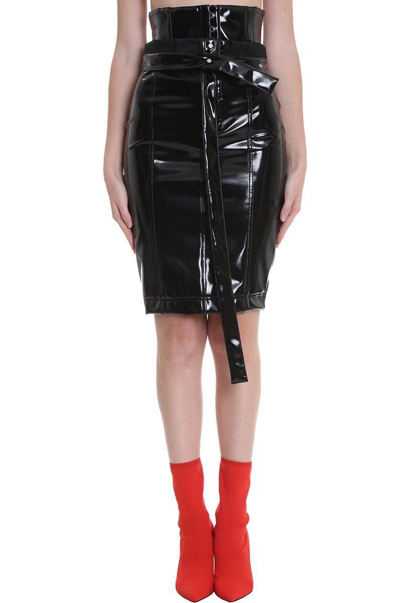 Ben Taverniti Unravel Project Skirt In Black Pvc