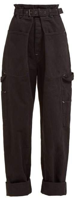 Inny Paperbag Waist Utility Jeans - Womens - Black
