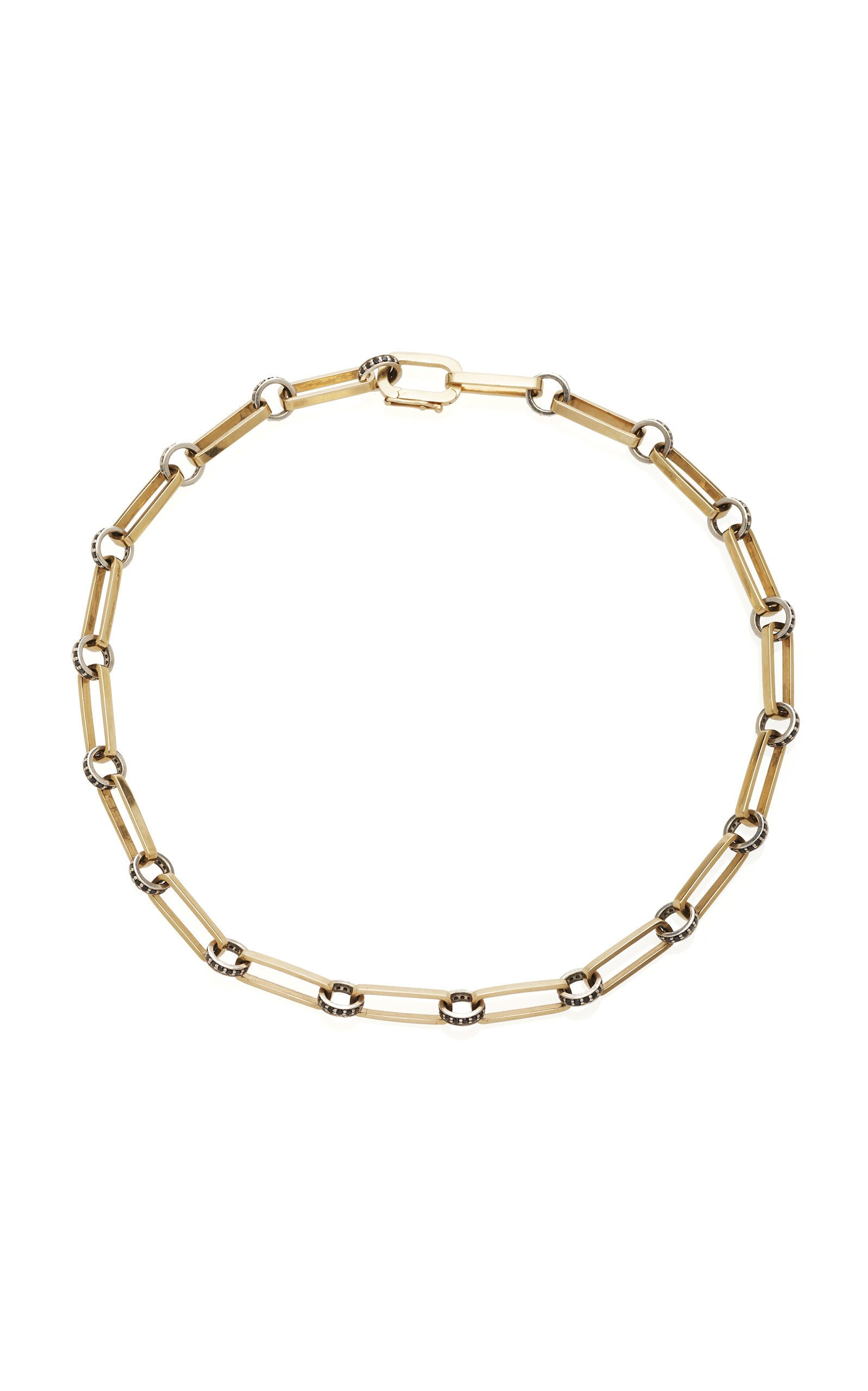 Nancy Newberg Smooth elongated oval link necklace